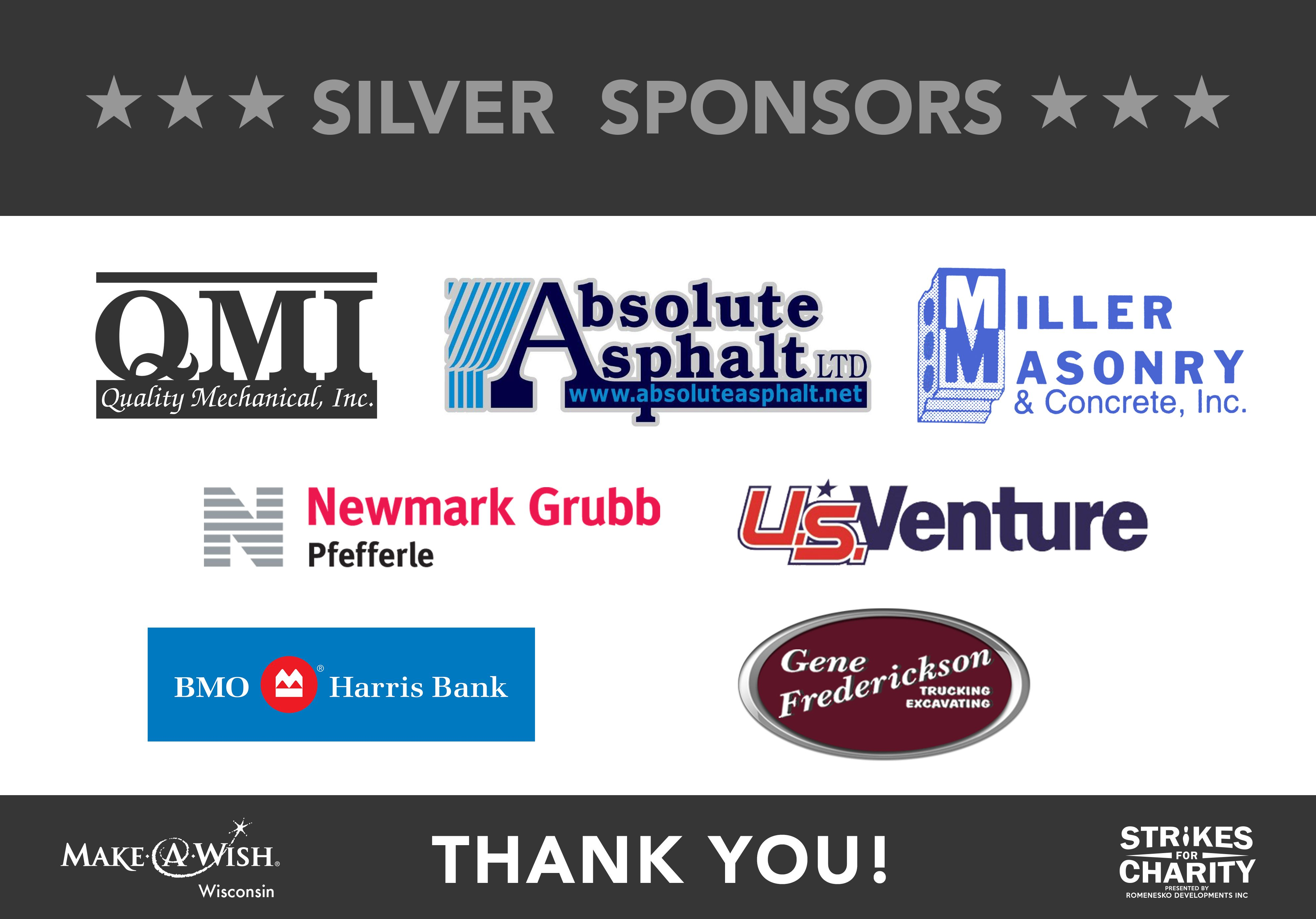 Strikes For Charity 2017 Silver Sponsors
